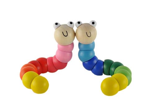 Wooden Jointed Worm (each) -