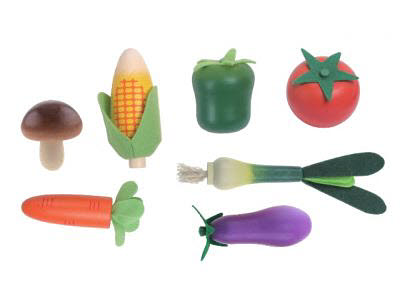 Wooden Vegetables 7PC Set -