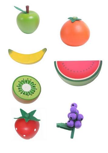 Wooden Fruits 7pc Set -