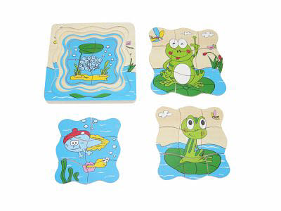 Frog Life Cycle Puzzle (4 in 1) -