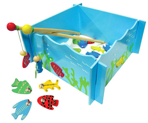 Fishing Game Magnetic Box With 4 Rod - Magnetic Fishing Game
