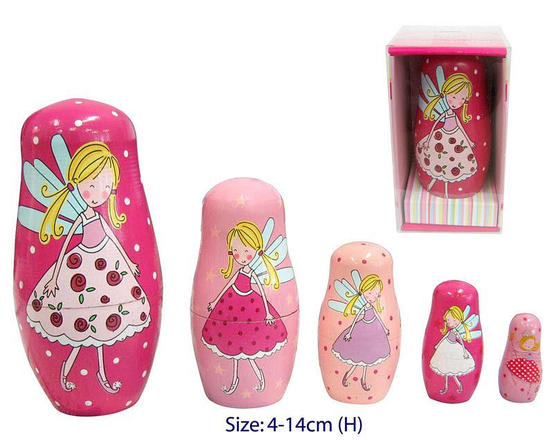 Nesting Doll 5pc Fairy Princess - Nesting Dolls 5pc Fairy Princess