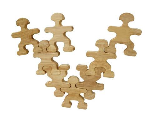 Natural Wood Balancing People Set - Natural Wood Balancing People Set