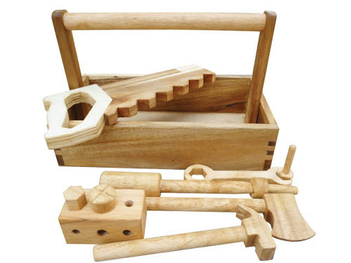 Wooden Tool Set Complete in Caddy - Wooden Tool Set Complete in Caddy
