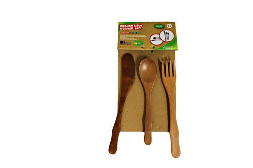 Toddler Wooden Utensil Set -