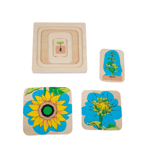 Developmental 4 Stage Puzzle - Flower - Developmental 4 Stage Puzzle - Flower