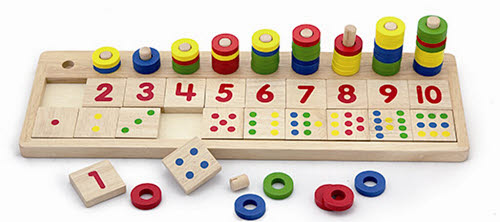 Logarithmic Board - Count & Match Numbers -
