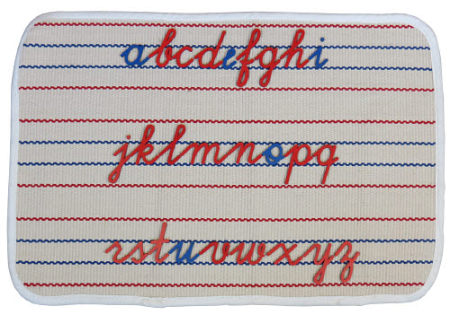 Spelling Mat with Carpet/Vinyl grip - for small Mov Alphabet - Spelling Mat with Carpet/Vinyl grip - Medium Size
