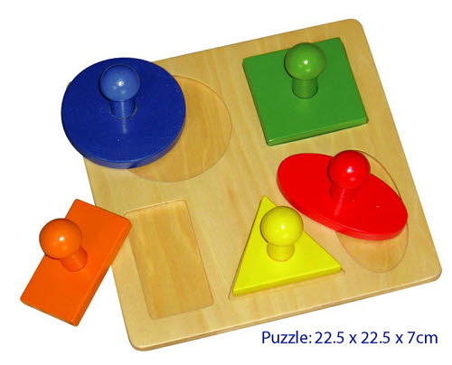 Giant Geometric 5 Shape Puzzle Activity - Giant Geometric 5 Shape Puzzle Activity