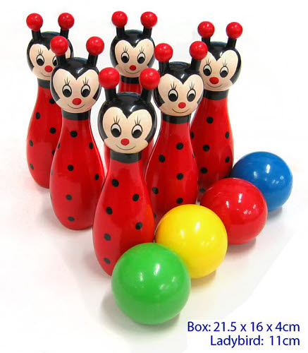 Bowling Animals - ladybird 10pc - Bowling Animals - ladybird 10pc