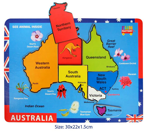 Puzzle raised- Australia Map -