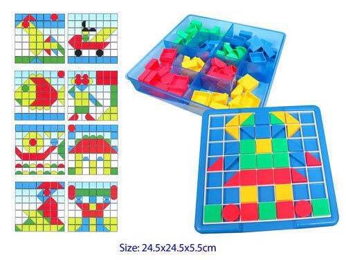 Geometric Pattern Play Set - 93pc - Geometric Pattern Play Set - 93pc