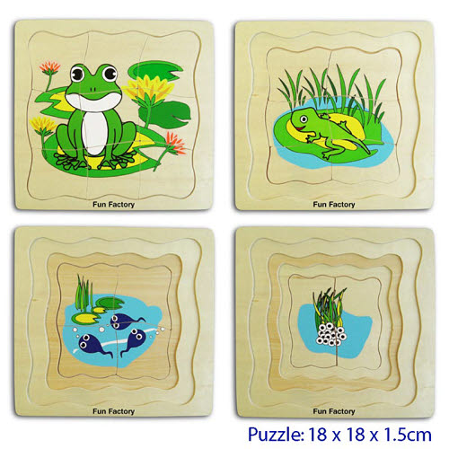 Puzzle- 4 layers frog -