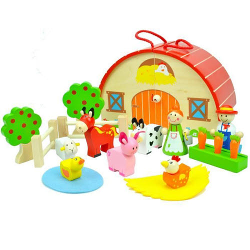 Wooden Farm Set - Portable - Wooden Farm Set - Portable