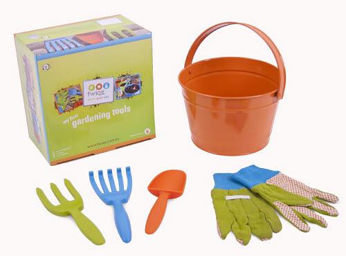 Twigz - My First Gardening Tools Set - Orange - Twigz - My First Gardening Tools Set