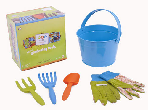 Twigz - My First Gardening Tools Set - Blue - wigz - My First Gardening Tools Set