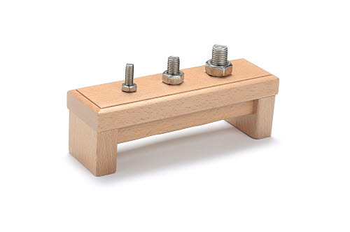 Nuts on Base Exercise for Toddlers made from Beech wood -