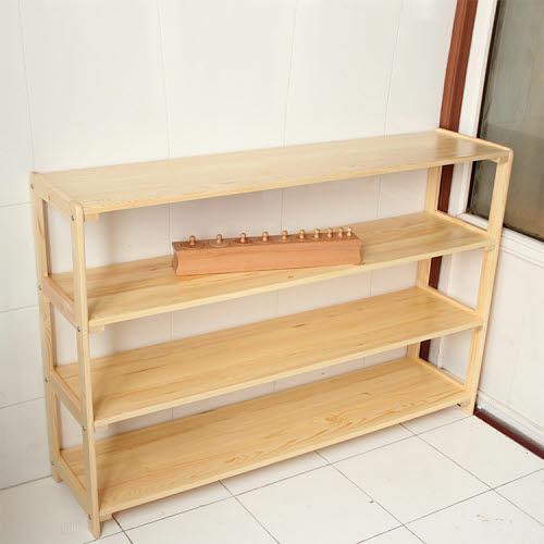 Montessori Child Open Sided 4 Shelf Unit in Pinewood - Montessori Child Open Sided 4 Shelf Unit