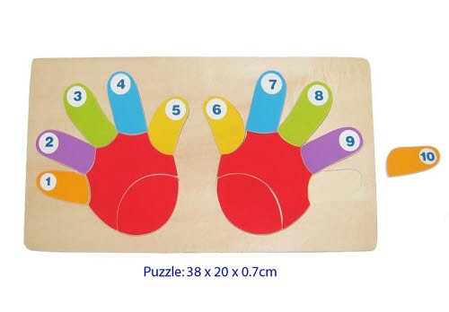 Hand Finger Counting Puzzle -