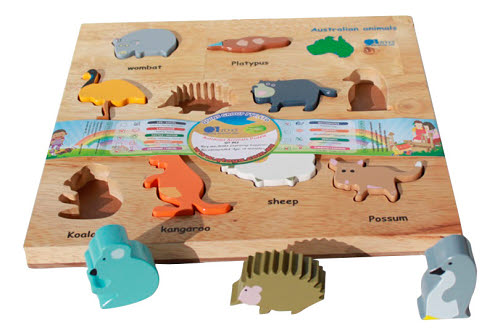 Australian Animals Puzzles And Play Set - Australian Animals Puzzles And Play Set