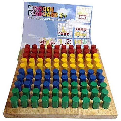 Wooden Peg Board -