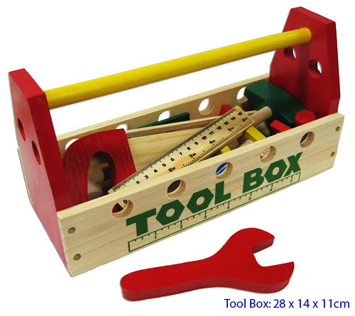 Tool Box with Wooden Tools - Tool Box with Wooden Tools