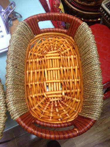 Wicker Basket with Handles (Oval) - Wicker Basket (Oval)