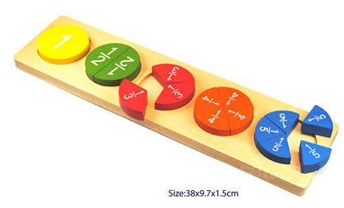 Fraction Puzzle 1-1/5 - Fraction Puzzle 1-1/5