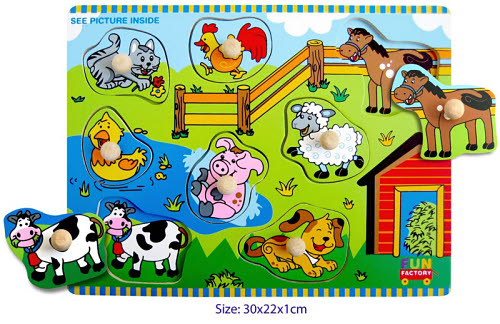 Farm House - Puzzle with knobs - Farm House - Puzzle with Knobs