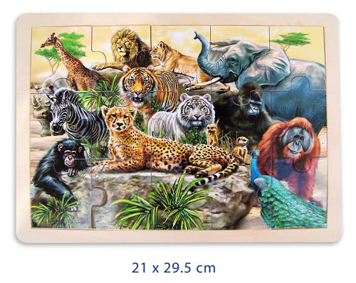 Jungle Animals Jigsaw Puzzle - 15pcs - Jungle Animals Jigsaw Puzzle - 15pcs