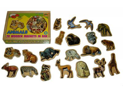 Magnetic Wild Animals in Box 20pcs - Magnetic Animals in Box 20pcs