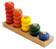 Stacking 1-5 Discs Puzzle - Large - Stacking 1-5 Discs Puzzle - Large