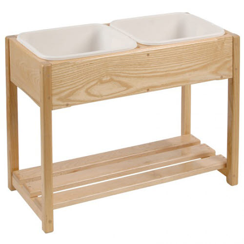 Dishwashing Stand for 3-6 year olds -  in Beech Wood - Dishwashing Stand for 3-6 year olds -  in beautiful Beech Wood