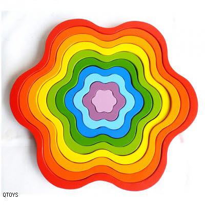 Rainbow Flower Stacker - Rainbow Flower
