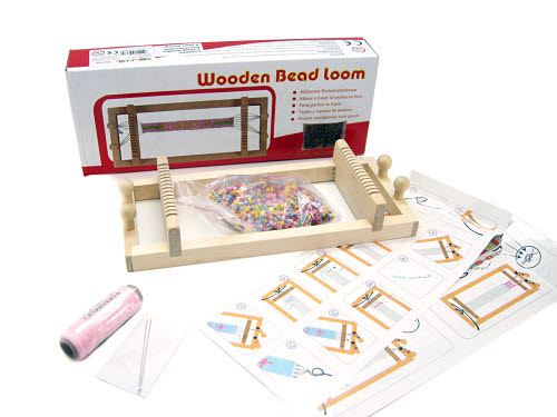 Wooden Bead Weaving Loom -