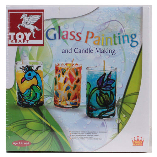 Glass Painting Candle Kit -