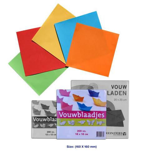 Coloured Craft Paper 16cmx16cm 200 sheet packs -