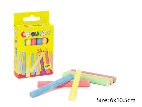 Coloured Chalk 12pc Box -