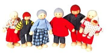 Discoveroo- Doll Family 7Pcs - Discoveroo- Doll Family
