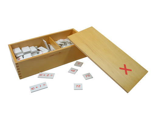 Multiplication Equations and Products Box - Wood - Multiplication Equations and Products Box - Wood