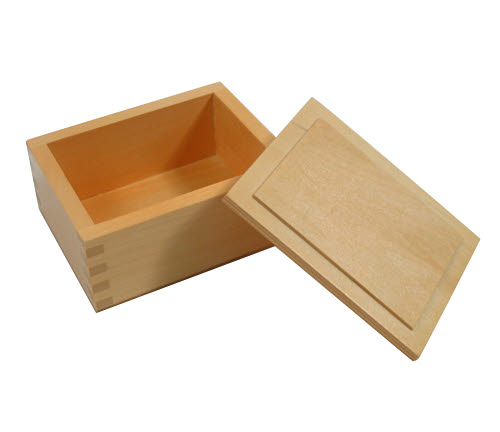 Beads Wooden Box with Lid - Beads Wooden Box with Lid