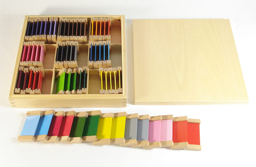 Third Box of Colour Tablets - Wooden Holders - Third Box of Colour Tablets - Wooden Holders