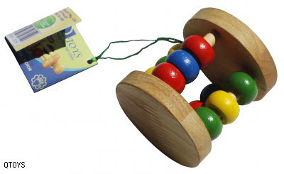 Rattle Natural Abacus Wheel - Rattle Natural Abacus Wheel