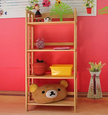 Tall Open Shelf in Pinewood - Childcare Pre School Classroom Furniture Tall Open Shelf