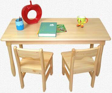 Table & 2 Chairs Set D in Solid Pinewood - Table & 2 Chairs Set D in Solid Pinewood