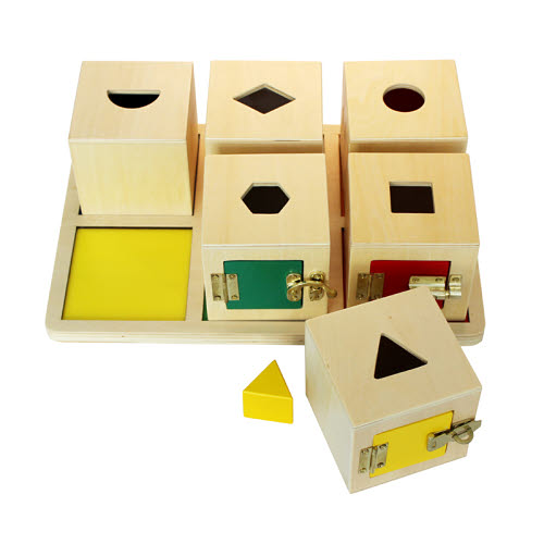 Lock Cubes with Objects & Tray - Lock Cubes with Objects & Tray