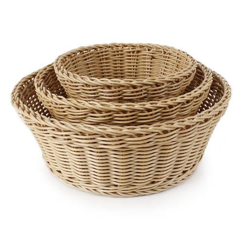 Wicker Round Baskets (Set of 3) - Wicker Round Baskets (Set of 3)