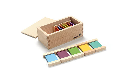 Colour Tablets - Rainbow Colours -Wooden Holders - Colour Tables - Rainbow in Wood
