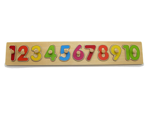Number Puzzle Board with Knobs - Number Puzzle Board with Knobs