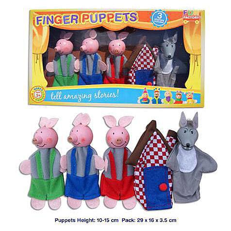 Finger Pupet 5pcs- 3 Little Pigs - Finger Pupet - 3 Little Pigs
